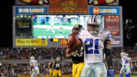 Ezekiel Elliott on his game-winning score