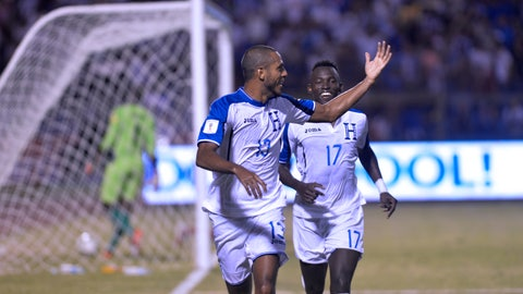 Honduras - 3 pts, +1 GD