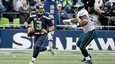 Seattle Seahawks—Russell Wilson's rearward-facing eyes