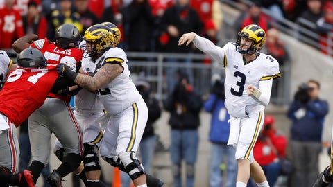 He played an injured Wilton Speight and had him throw 36 times