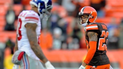 Cleveland Browns—Joe Haden's instincts