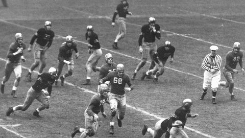 Army vs. Notre Dame, 1946 college football de facto national championship game (Yankee Stadium)