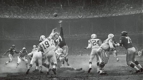 Baltimore Colts at New York Giants, 1958 NFL championship (Yankee Stadium)