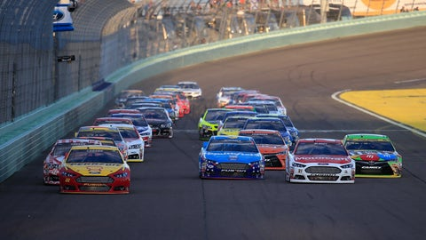 Starting lineup for Ford EcoBoost 400 at Homestead-Miami Speedway