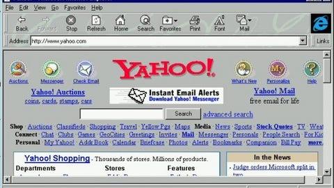 Microsoft had recently released Internet Explorer 3