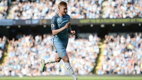 De Bruyne proving indispensable for City