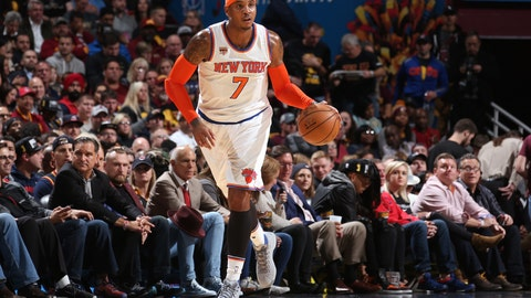 To Knicks for Carmelo Anthony (three-way deal)