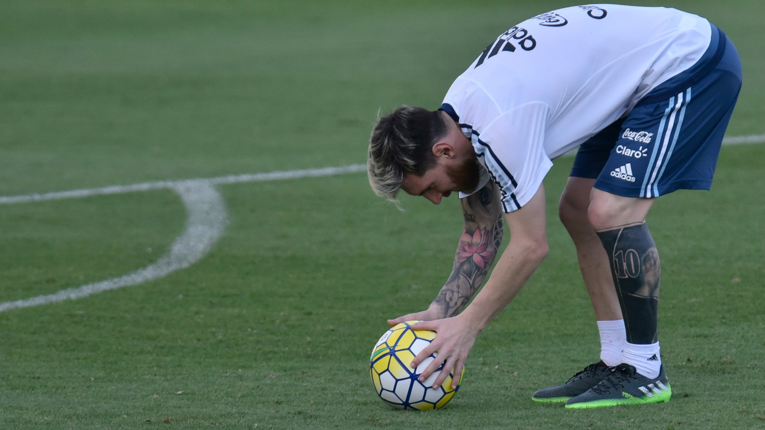 Lionel Messi Gets Inked Again Goes Full Black Leg Sleeve