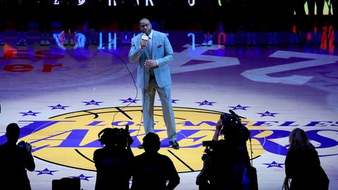 He introduced Kobe Bryant in his final NBA game