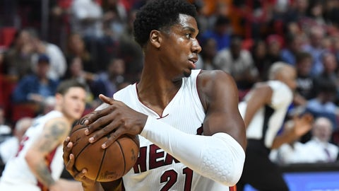 To Miami for Hassan Whiteside and 2019 first-round pick