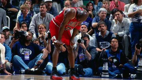 "Jordan's famous ""flu game"" was only months away"