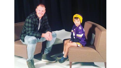 Obadiah Gamble, Vikings Super fan