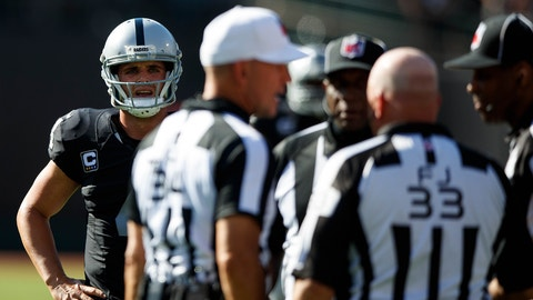 The Oakland Raiders get flagged for all the penalties