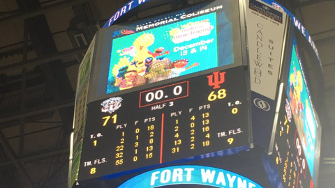 It was a virtual home game for Indiana