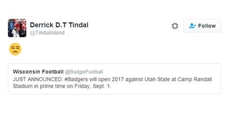 Derrick Tindal, Badgers cornerback
