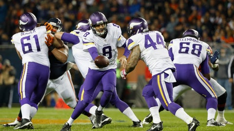 The Minnesota Vikings offense hits rock bottom