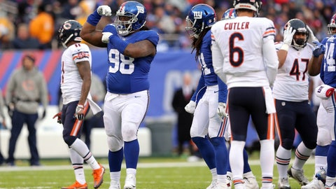"Damon ""Snacks"" Harrison, DT, New York Giants: William Penn"