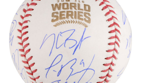 Autographed World Series baseball