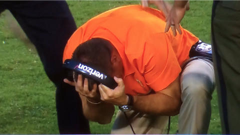 Butch Jones can't contain himself