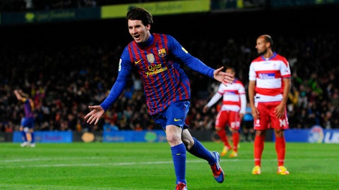 Most La Liga goals in a calendar year
