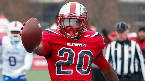 Anthony Wales, RB, Western Kentucky (Boca Raton Bowl)