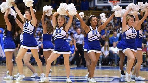 Duke cheerleaders