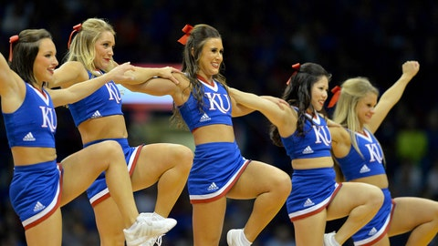 Kansas cheerleaders
