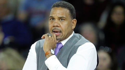 Dec 10, 2016; Providence, RI, USA; Providence Friars head coach Ed Cooley watches game action during the first half against Massachusetts at Dunkin' Donuts Center. Mandatory Credit: Stew Milne-USA TODAY Sports