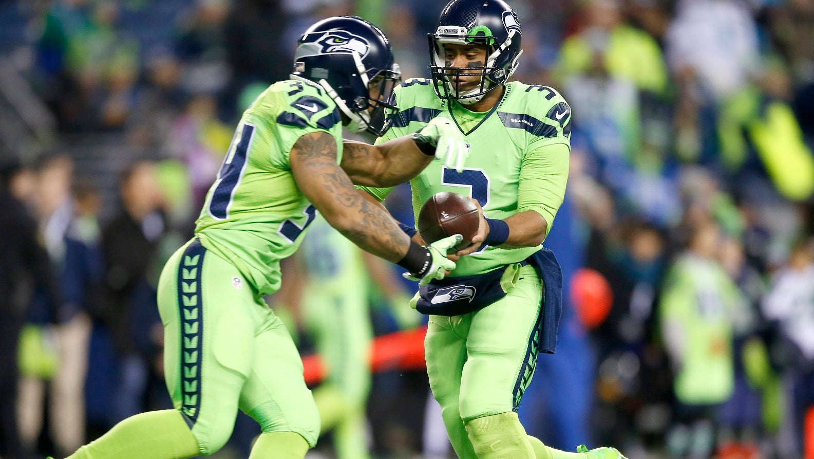 timeless design a4369 deda9 Fans blast Seahawks' hideous 'color rush' jerseys on Twitter ...