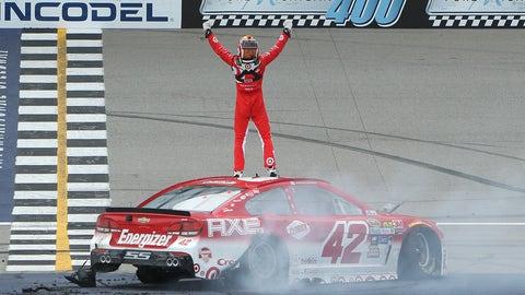 First career win at Michigan