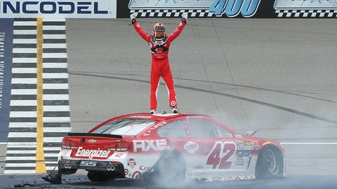 First career win at Michigan