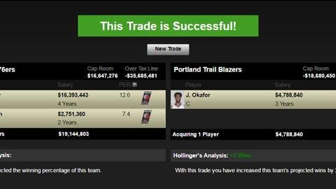 Philadelphia 76ers trade Okafor, not Noel
