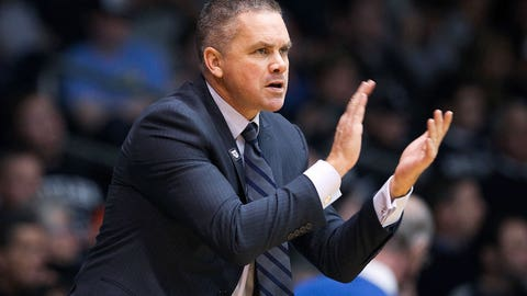 INDIANAPOLIS, IN - DECEMBER 21:  Head coach Chris Holtmann of the Butler Bulldogs reacts in the second half against the Vermont Catamounts at Hinkle Fieldhouse on December 21, 2016 in Indianapolis, Indiana. (Photo by Dylan Buell/Getty Images)