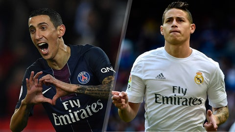T-10. Angel Di Maria & James Rodriguez — $22.1 million
