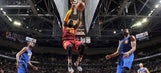 LeBron James defends hanging on the rim, Richard Jefferson's 'foul' vs. Warriors