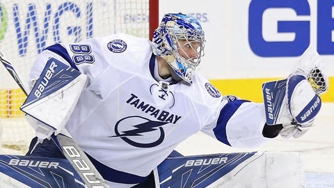 NHL: Andrei Vasilevskiy, Tampa Bay Lightning — age 22
