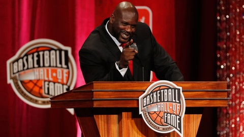 21. Shaquille O'Neal inducted into Basketball Hall of Fame
