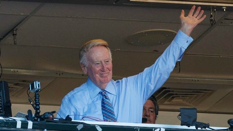 Vin Scully signs off