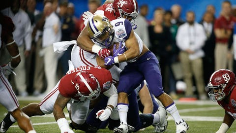 1,300-yard rusher Myles Gaskin was completely silenced