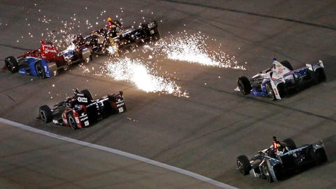 Sparks fly at Texas Motor Speedway