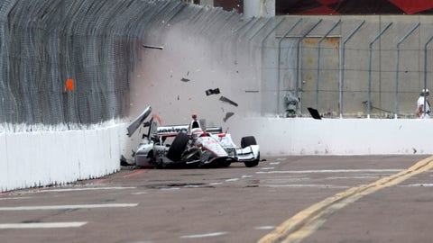 Will Power's crash in St. Pete