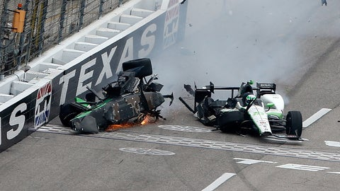 Josef Newgarden's incredible crash