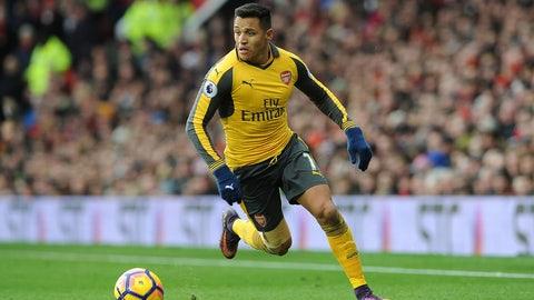 17. Alexis Sanchez, Arsenal