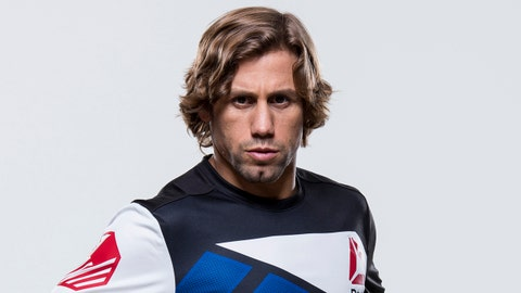 LAS VEGAS, NEVADA - DECEMBER 08:  Urijah Faber of the United States  poses for a portrait during a UFC portrait session at MGM Grand Garden Arena on December 8, 2015 in Las Vegas, Nevada. (Photo by Jeff Bottari/Zuffa LLC/Zuffa LLC via Getty Images)