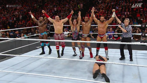 The Hype Bros, American Alpha and Apollo Crews defeated The Vaudevillains, Curt Hawkins and The Ascension