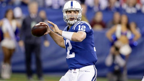 FILE - In this Sunday, Dec. 11, 2016 file photo, Indianapolis Colts quarterback Andrew Luck throws during the first half of an NFL football game against the Houston Texans in Indianapolis. The Indianapolis Colts (6-7) come to Minnesota on Sunday, Dec. 18, 2016 on the outside of the playoff chase looking in, and Luck knows that he'll be facing one of his most difficult tests of the season. (AP Photo/Darron Cummings, File)