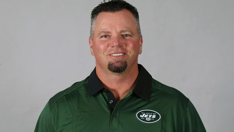 This 2016 photo shows Brant Boyer of the New York Jets NFL football team. The mistakes and missed opportunities have cost the New York Jets, and that has weighed heavily on Brant Boyer. His special teams unit is struggling through an especially bad year. (AP Photo)