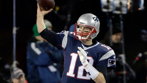 FILE - In this Dec. 12, 2016, file photo, New England Patriots quarterback Tom Brady warms up before an NFL football game against the Baltimore Ravens in Foxborough, Mass. New England tripped into the playoffs last season following an overtime loss at New York and 10-point loss at Miami that saw the Patriots rest several starters and use Brady sparingly. (AP Photo/Steven Senne, File)
