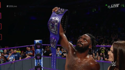 Rich Swann vs. TJ Perkins vs. The Brian Kendrick for the WWE Cruiserweight Championship