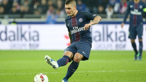 MID: Marco Verratti, PSG (€72 million)
